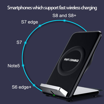 China Fast wirelss charger 10W injection molded plastic parts Mobile angle supporter wireless charger high gloss factory