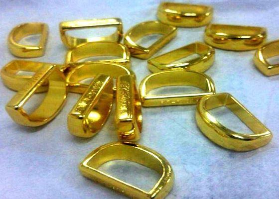 China Decoration ring part Aluminium Die Casting polish and Golden plating treatment factory