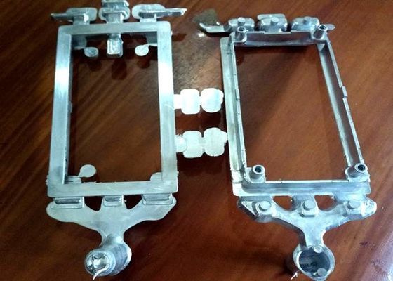 China Socket Decoration Frame Metal Injection Molding Brushed Chrome Finish factory