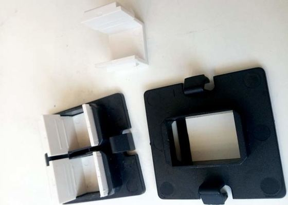 China RJ45 / RJ11 blind inserts plastic moulding parts with RAl 9010 black color and polish surface factory